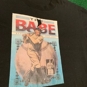 Vintage Shirts - Vintage 90s Babe Ruth single stitch Tee